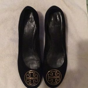 TORY BURCH BLACK SUEDE LEATHER HEELS SIZE 11